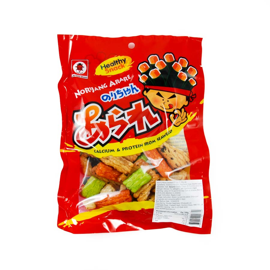 Ladybird Rice Crackers 100g Ingredients Savoury Snacks & Crackers Southeast Asian Food
