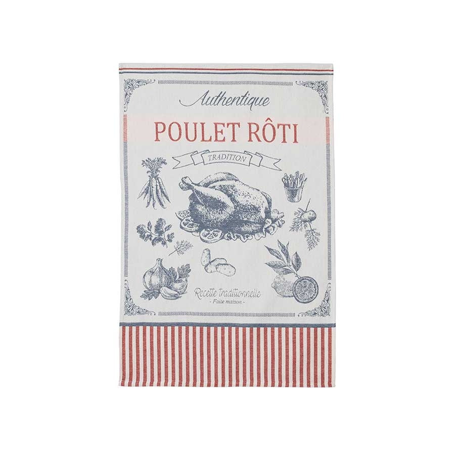 Coucke French Tea Towel - Poulet Roti Cookware Kitchen Clothing French Food