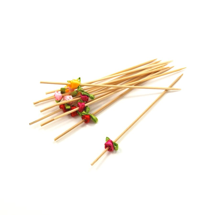 First Pack Flower Canape Skewer 12cm Cookware Canape Supplies
