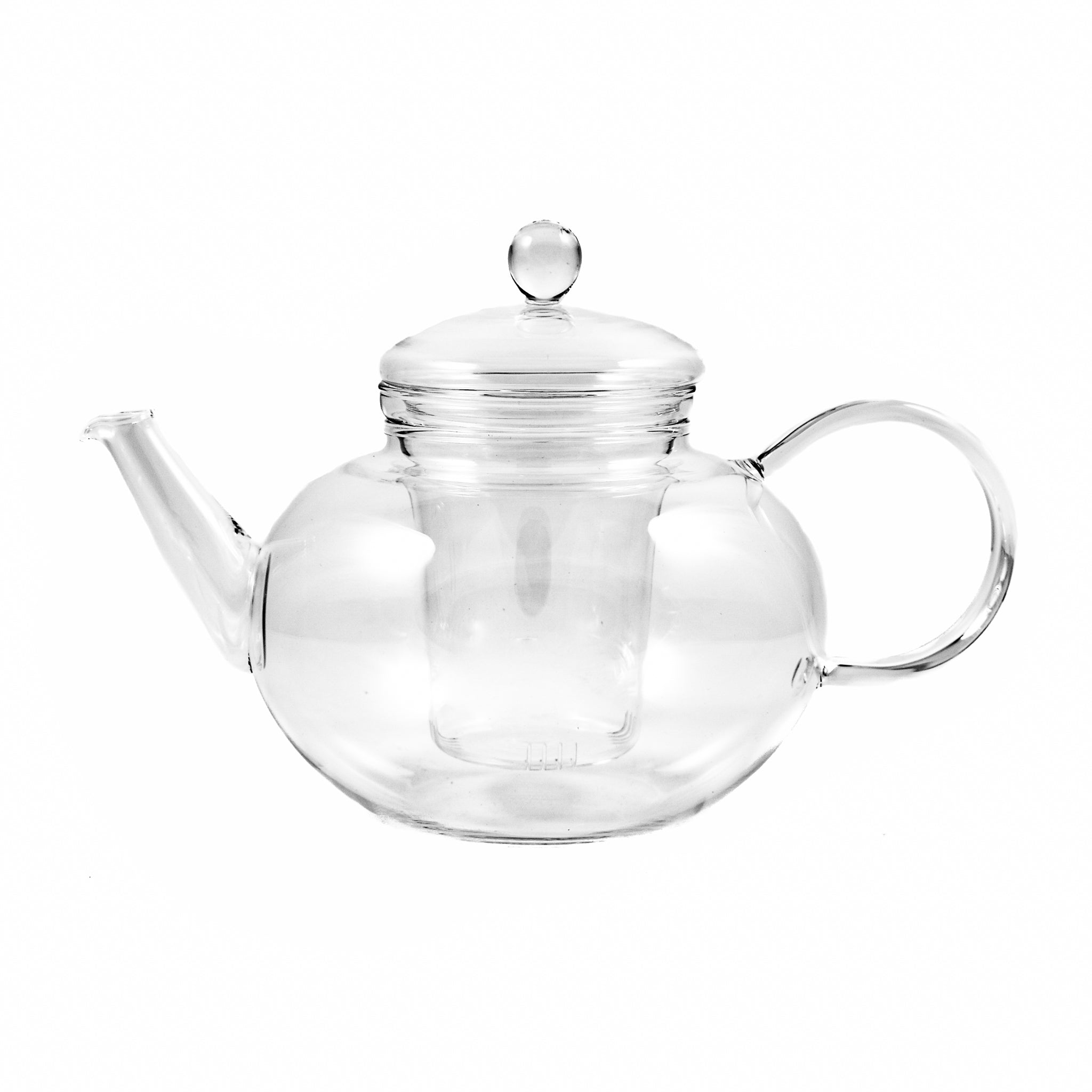 Trendglas Round Glass Teapot & Strainer 1.2 litres Tableware Jugs & Glassware