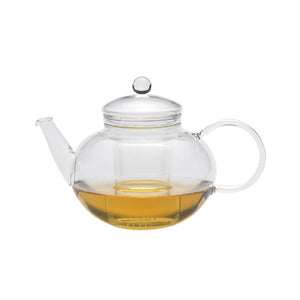 Round Glass Teapot & Strainer
