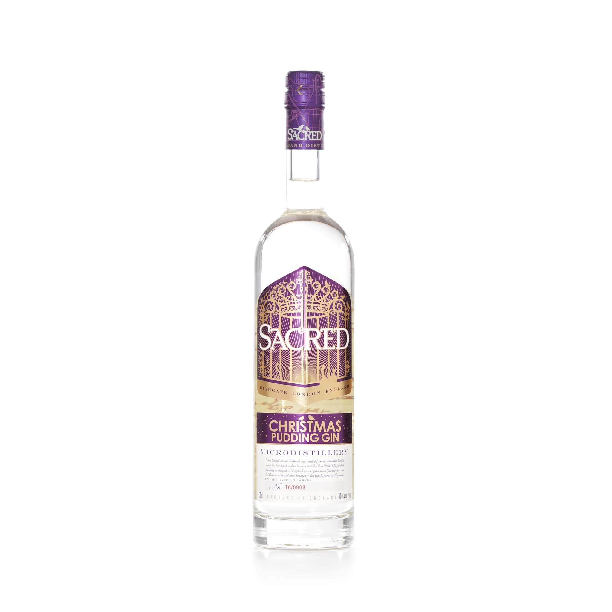 Sacred Spirits Sacred Christmas Pudding Gin 70cl Ingredients Drinks Alcohol