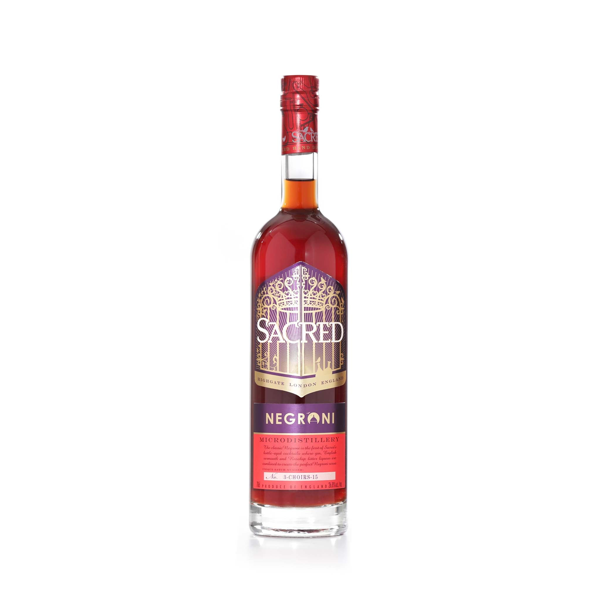 Sacred Spirits Sacred Bottle Aged Negroni Ingredients Drinks Alcohol