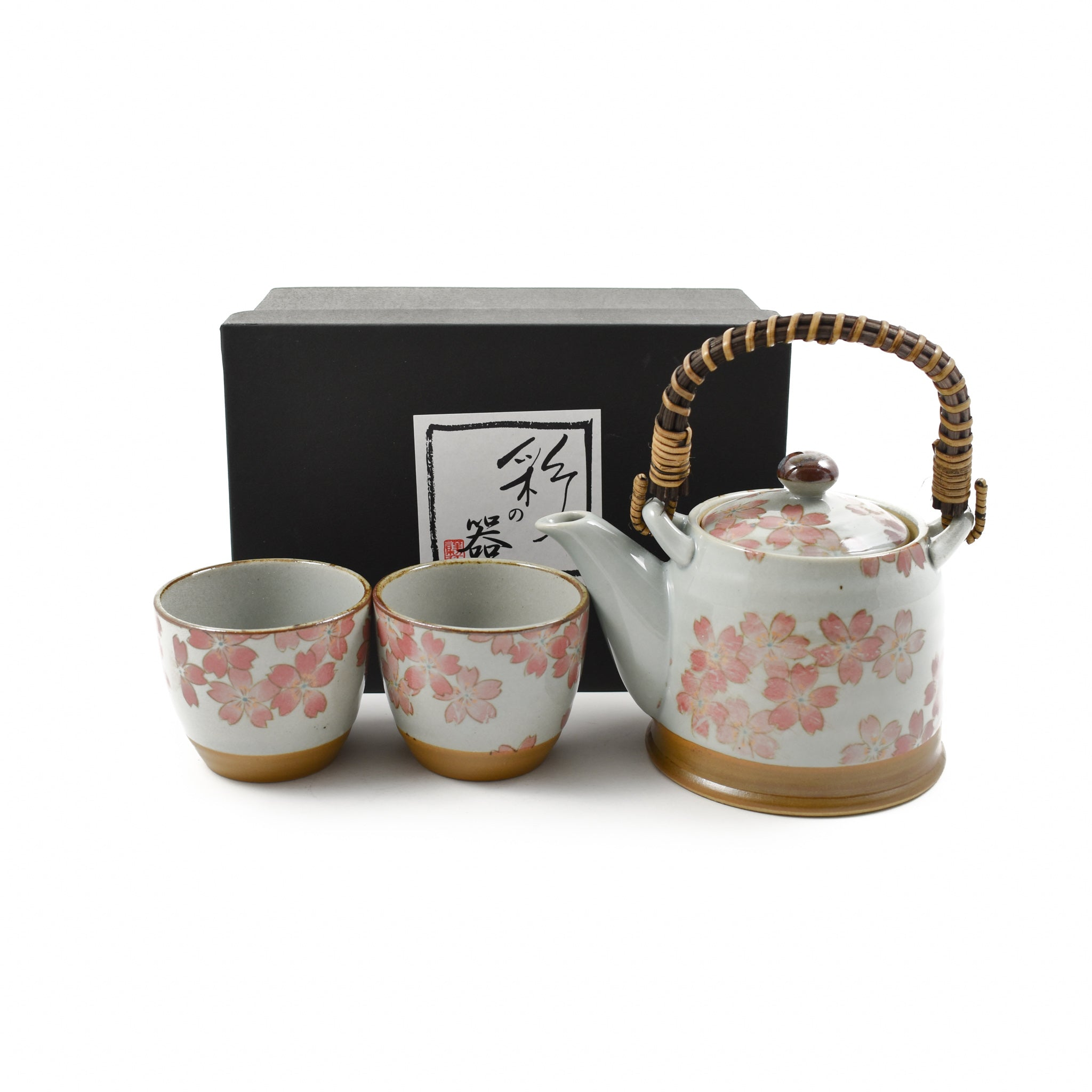 Kiji Stoneware & Ceramics Sakura Blossom Tea Set For Two Tableware Japanese Tableware Japanese Food