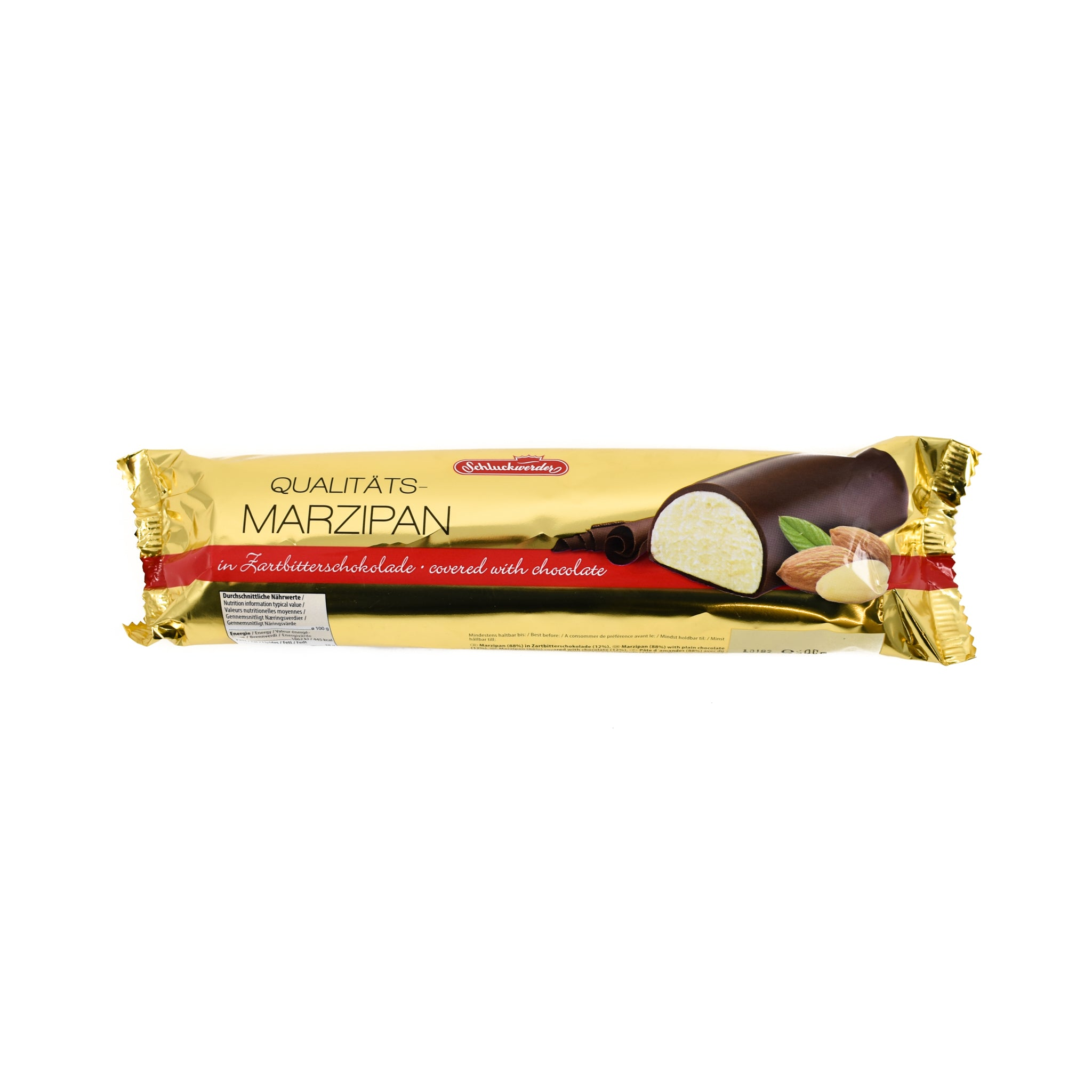 Schluckwerder Dark Chocolate Covered Marzipan Bar 500g Ingredients Chocolate Bars & Confectionery German Food