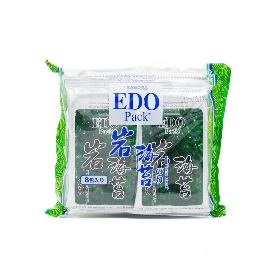 EDO Seasoned Seaweed Snack Pack 20g Ingredients Seaweed Squid Ink Fish Chinese Food