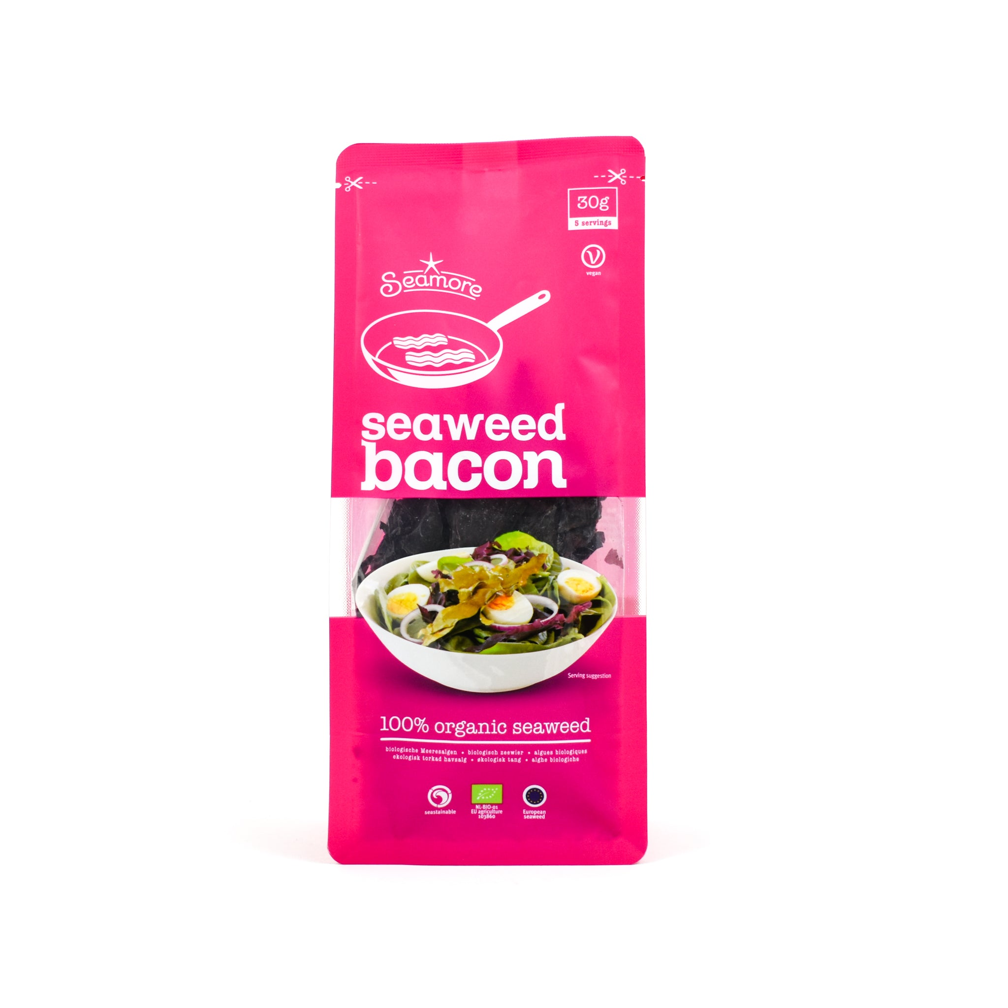 Seamore Seaweed Bacon 30g Ingredients Seaweed Squid Ink Fish