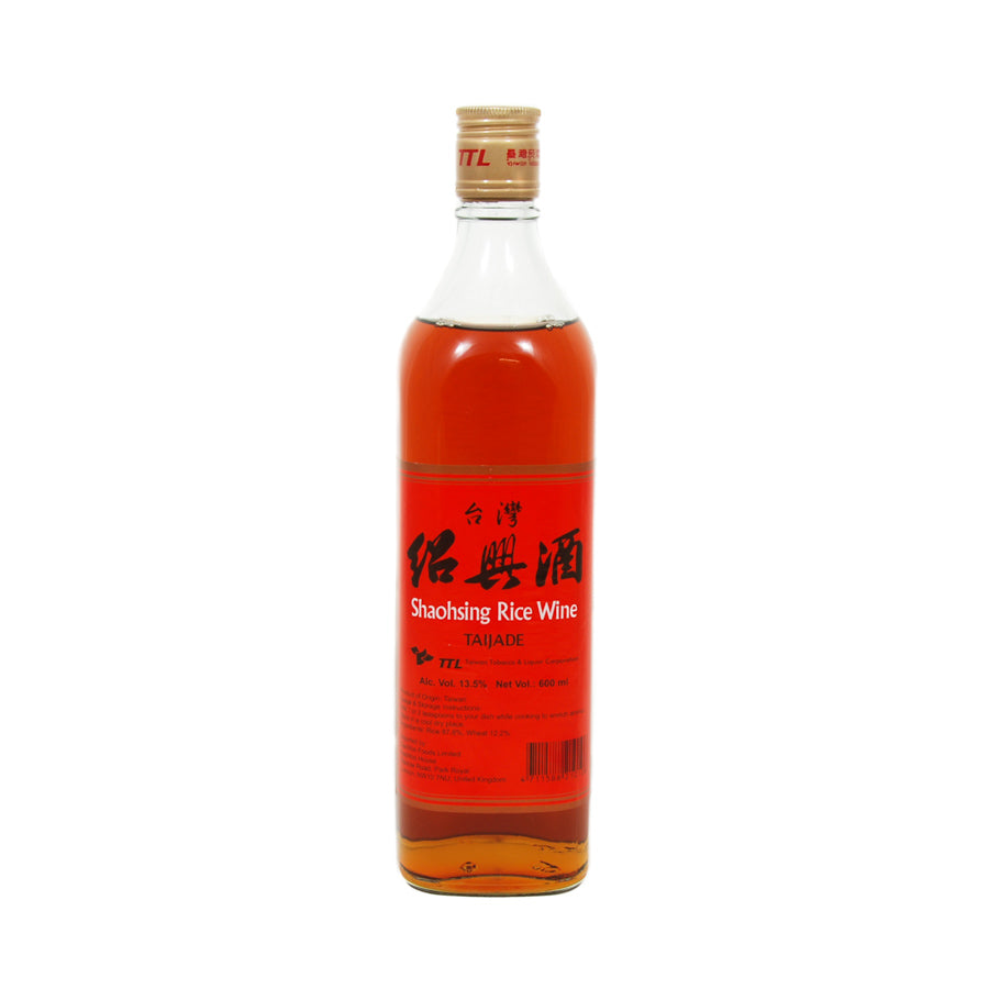 Taijade Shaoxing (Shao Hsing) Rice Wine 600ml Ingredients Drinks Alcohol Chinese Food
