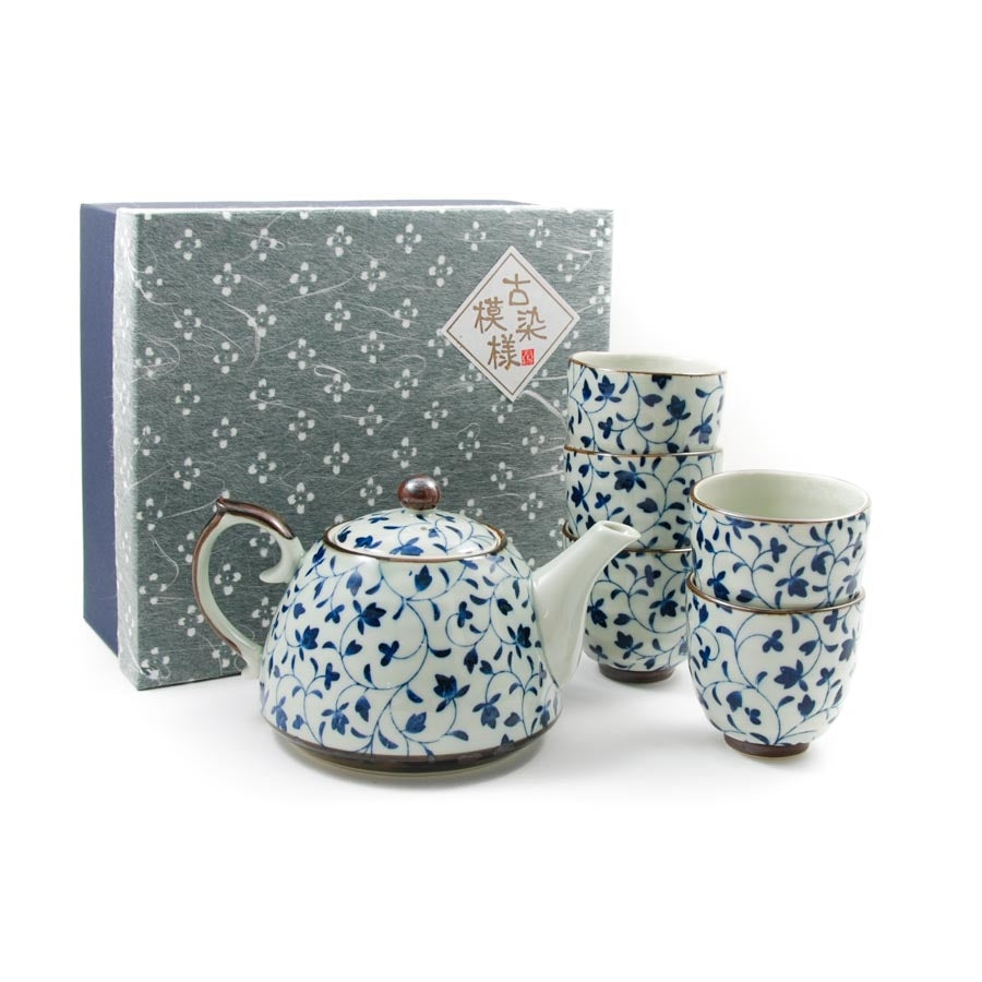Shizen Blue Japanese Teapot & Teacup Set