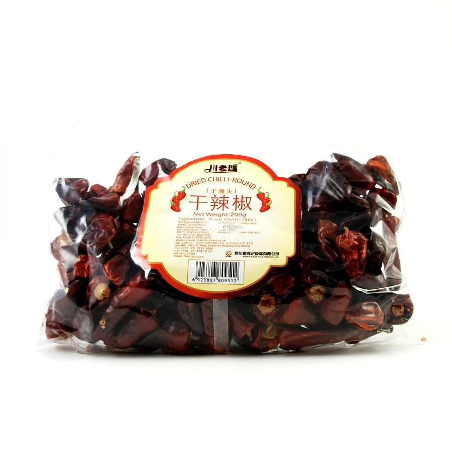 Sichuan Gao Fu Ji Food Co Sichuan Facing Heaven Chillies 200g Ingredients Herbs & Spices Dried Chillies Chinese Food