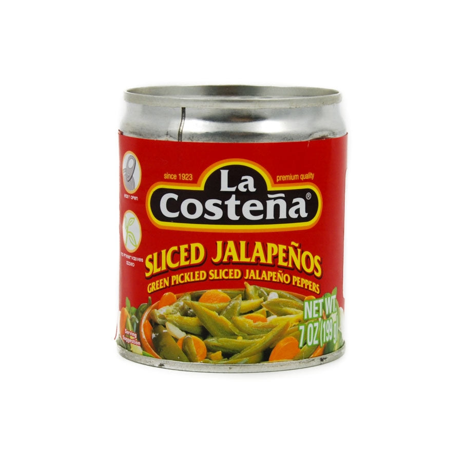La Costena Sliced Green Jalapeno Peppers 199g Ingredients Sauces & Condiments American Sauces & Condiments Mexican Food