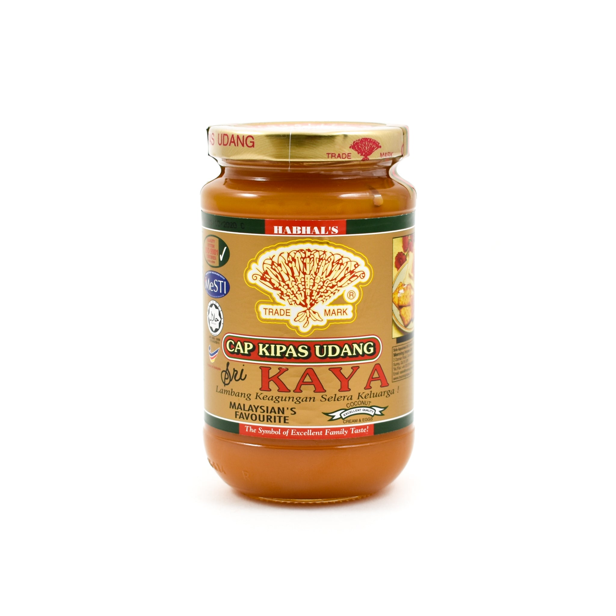 Habhal Sri Kaya Coconut Spread 420g Ingredients Jam Honey & Preserves Southeast Asian Food