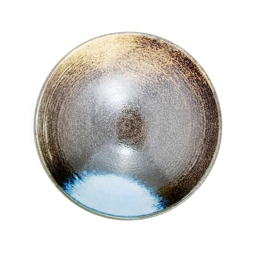 Blue-Black Glaze Bowl