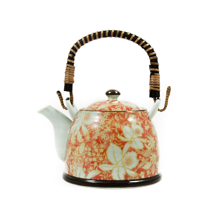 Kiji Stoneware & Ceramics Suisen Red Japanese Teapot Tableware Japanese Tableware Japanese Food