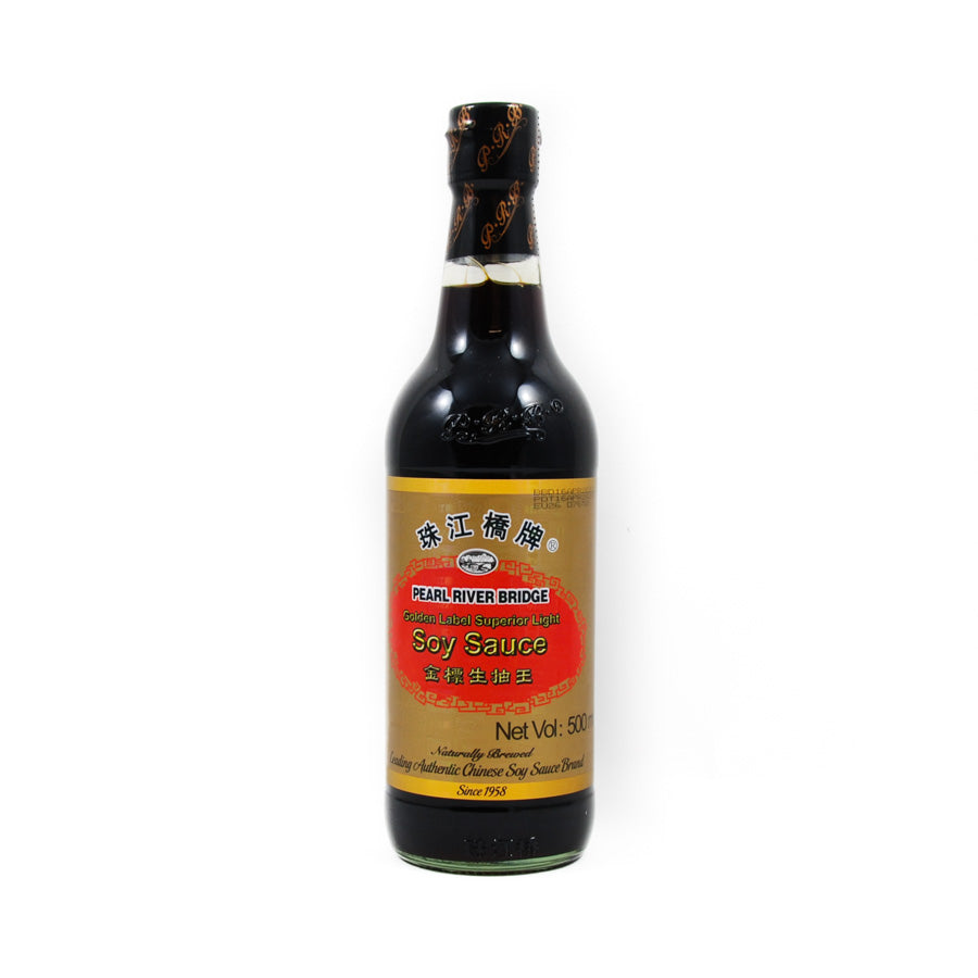 Pearl River Bridge Superior Gold Label Light Soy Sauce 500ml Ingredients Sauces & Condiments Asian Sauces & Condiments Chinese Food