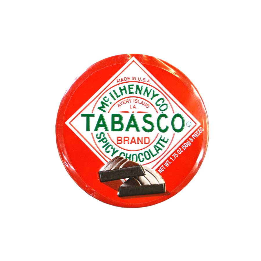Spicy Tabasco Chocolate Tin 50g Ingredients Chocolate Bars & Confectionery American Food