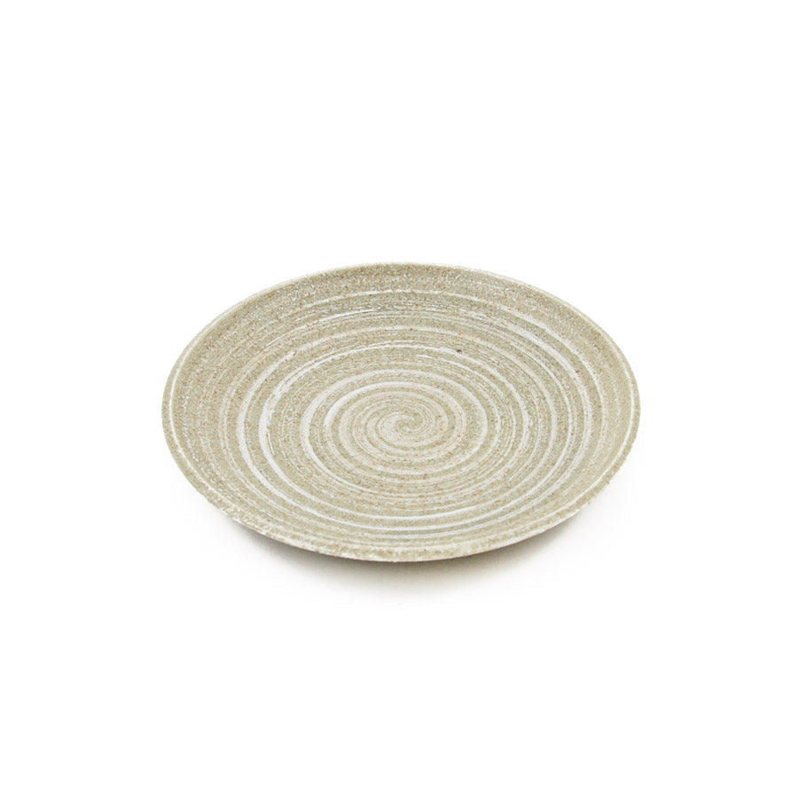 Kiji Stoneware & Ceramics Tatsumaki Side Plate 19cm Tableware Japanese Tableware Japanese Food