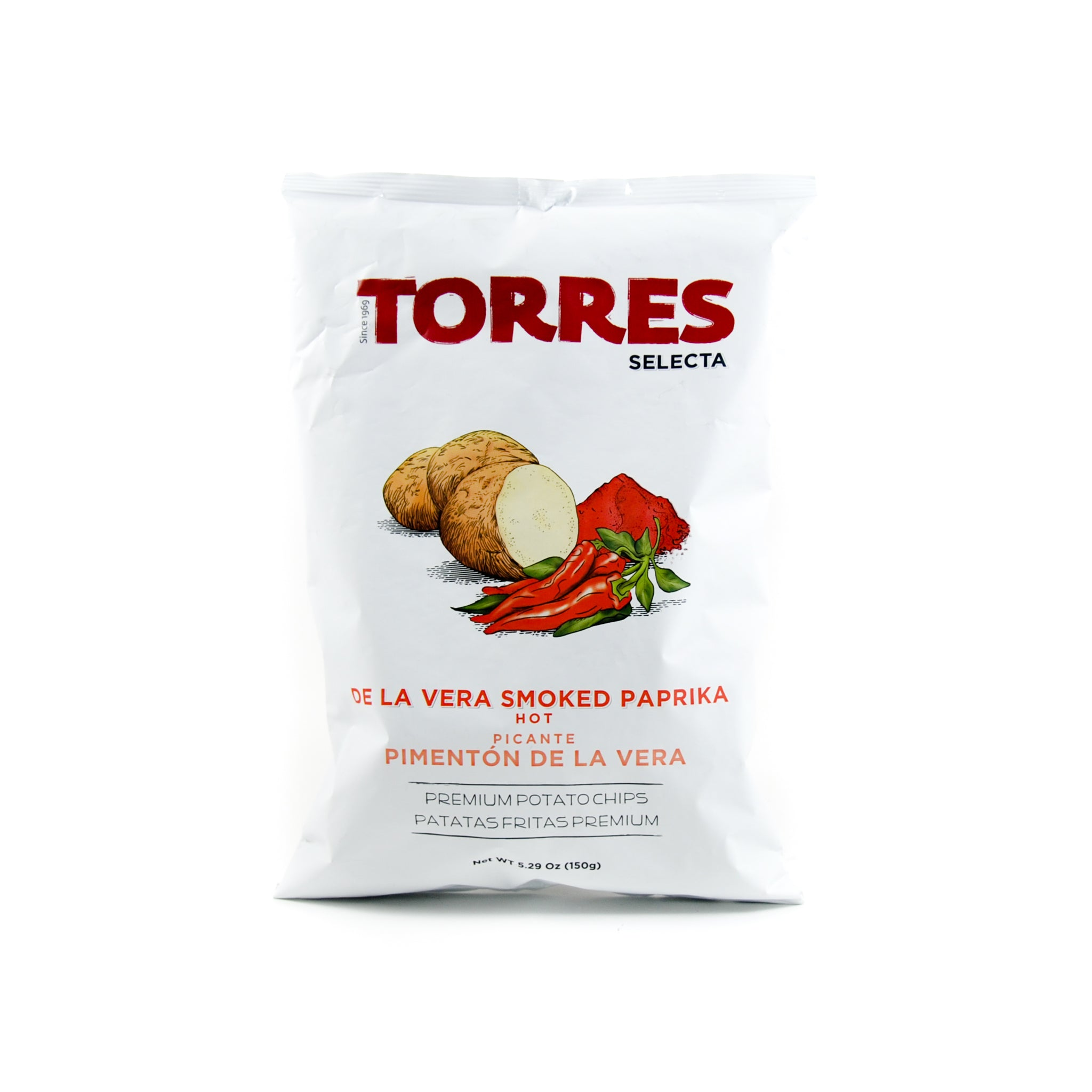 Torres Smoked Paprika Crisps 150g Ingredients Savoury Snacks & Crackers Spanish Food