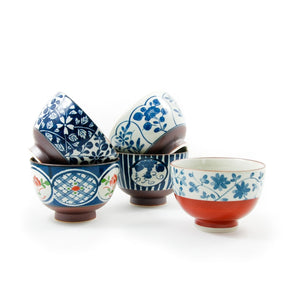 Traditional 5-Piece Japanese Rice Bowl Set