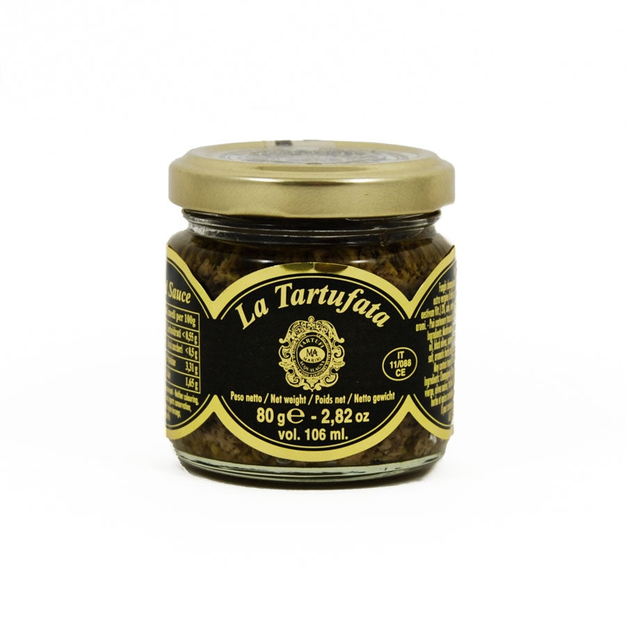 Marini Azzolini Truffled Sauce With Olives & Anchovies 80g Ingredients Mushrooms & Truffles Italian Food