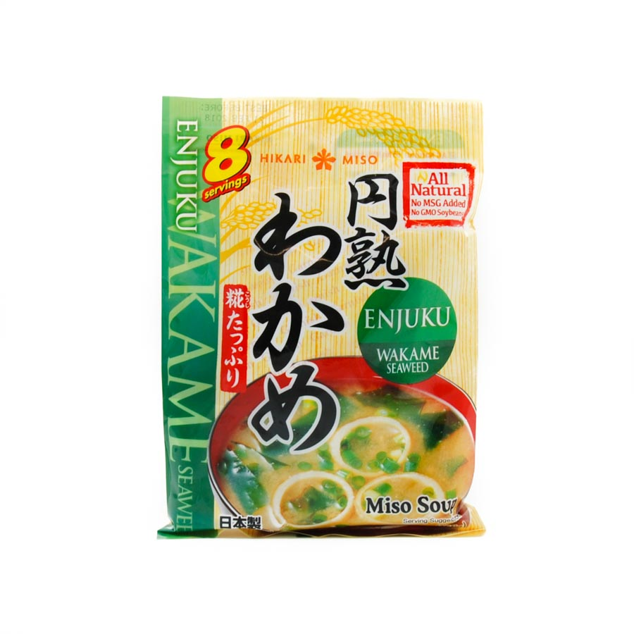 Hikari Instant Miso Soup With Wakame 8 x 22g servings Ingredients Seasonings Japanese Food