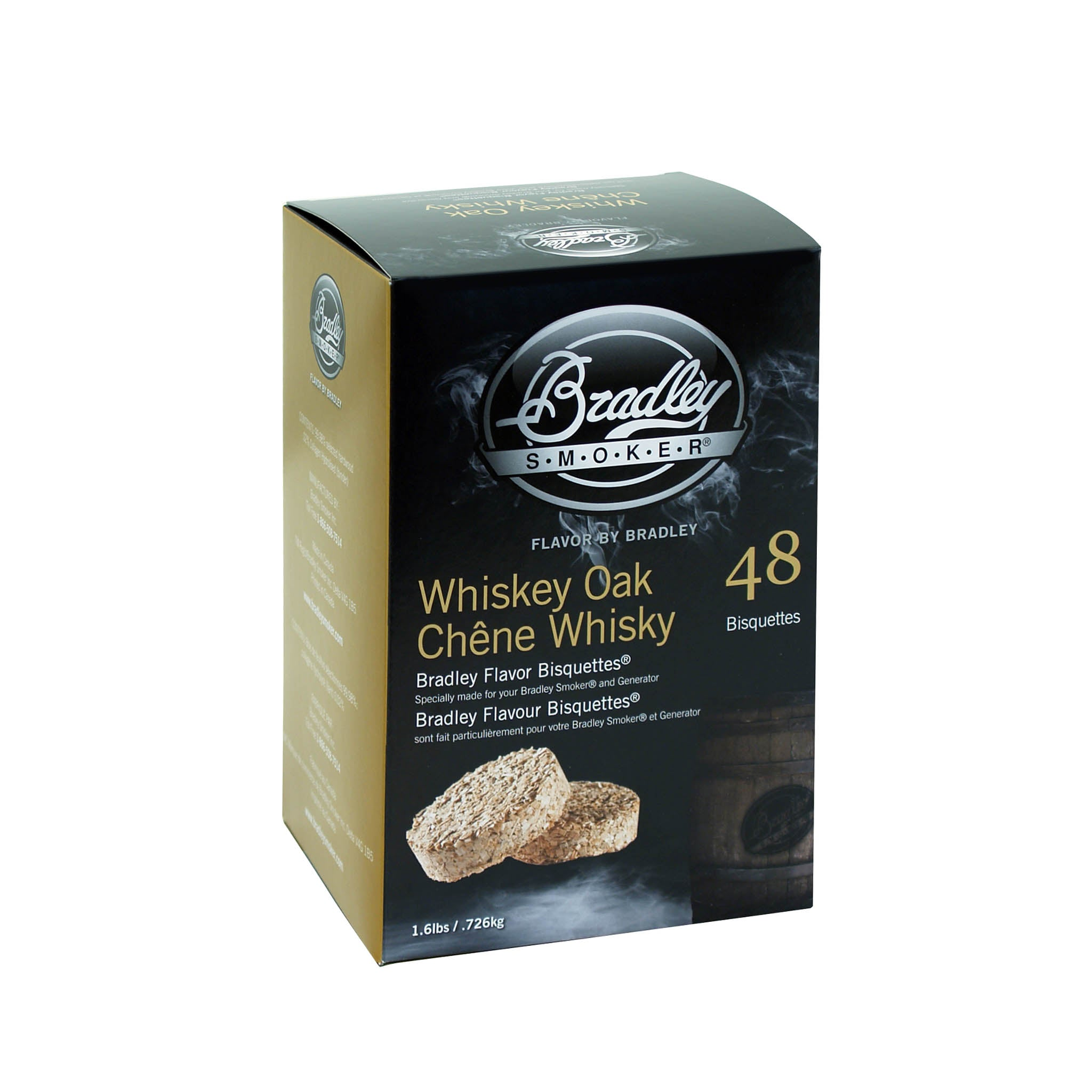 Bradley Smoker Bradley Whiskey Oak Bisquettes Pack of 48 Cookware Food Smokers & BBQ