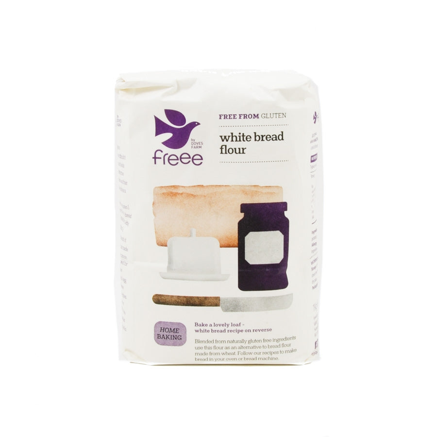 Doves Farm Gluten Free White Bread Flour 1kg Ingredients Flour Grains & Seeds