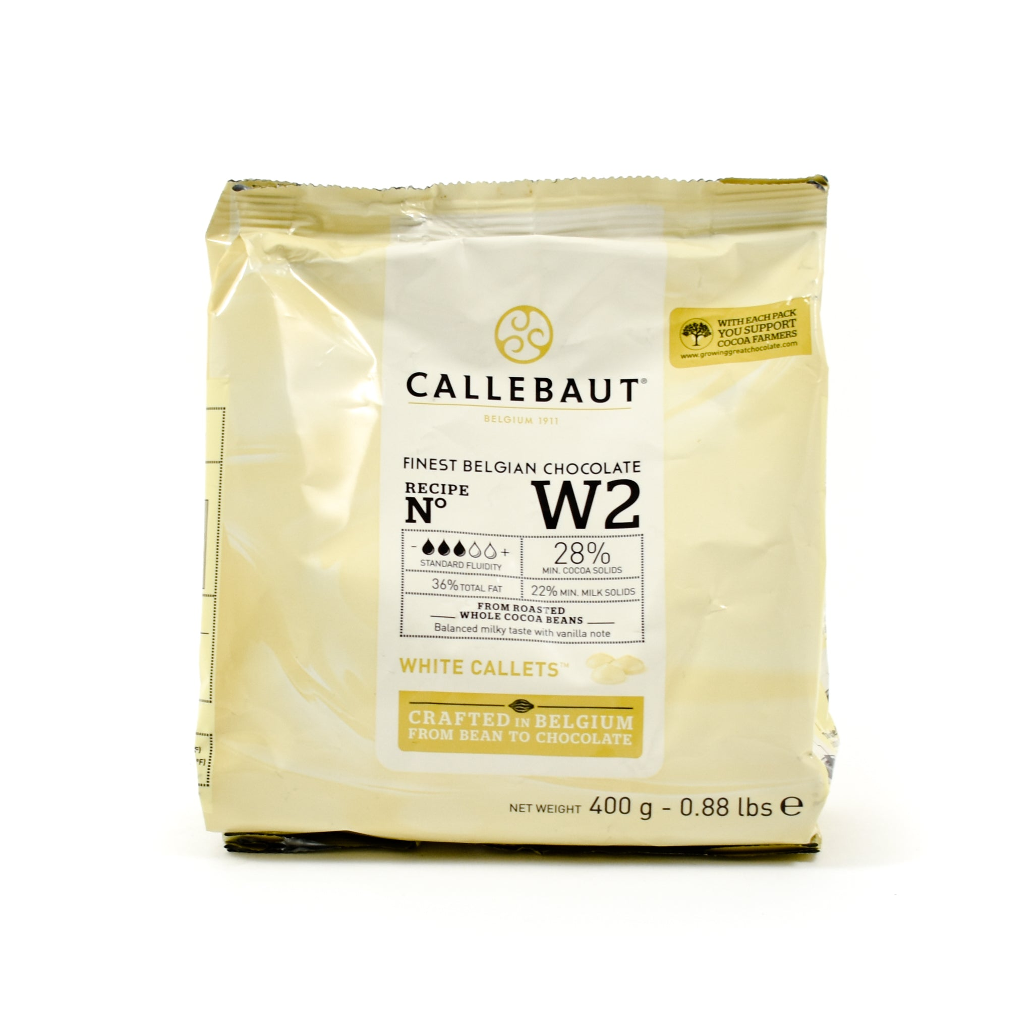 Sous Chef Callebaut White Chocolate Couverture 400g Ingredients Baking Ingredients Cooking Chocolate