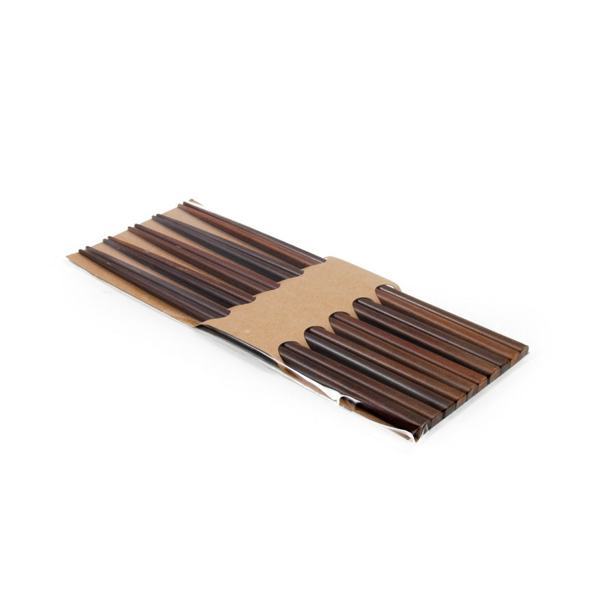 Kiji Stoneware & Ceramics Brown Wood Chopsticks - Set of 5 Tableware Chopsticks