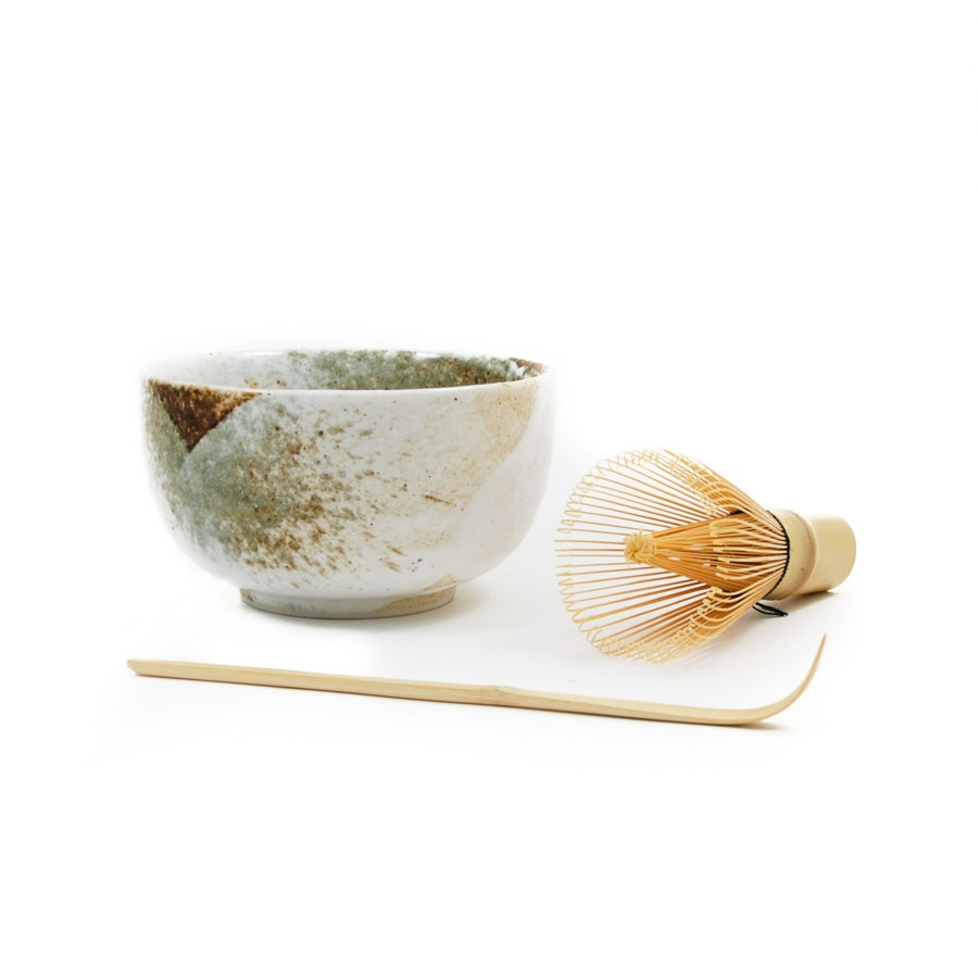 Kiji Stoneware & Ceramics Yukishino Matcha Bowl Set Tableware Japanese Tableware Japanese Food