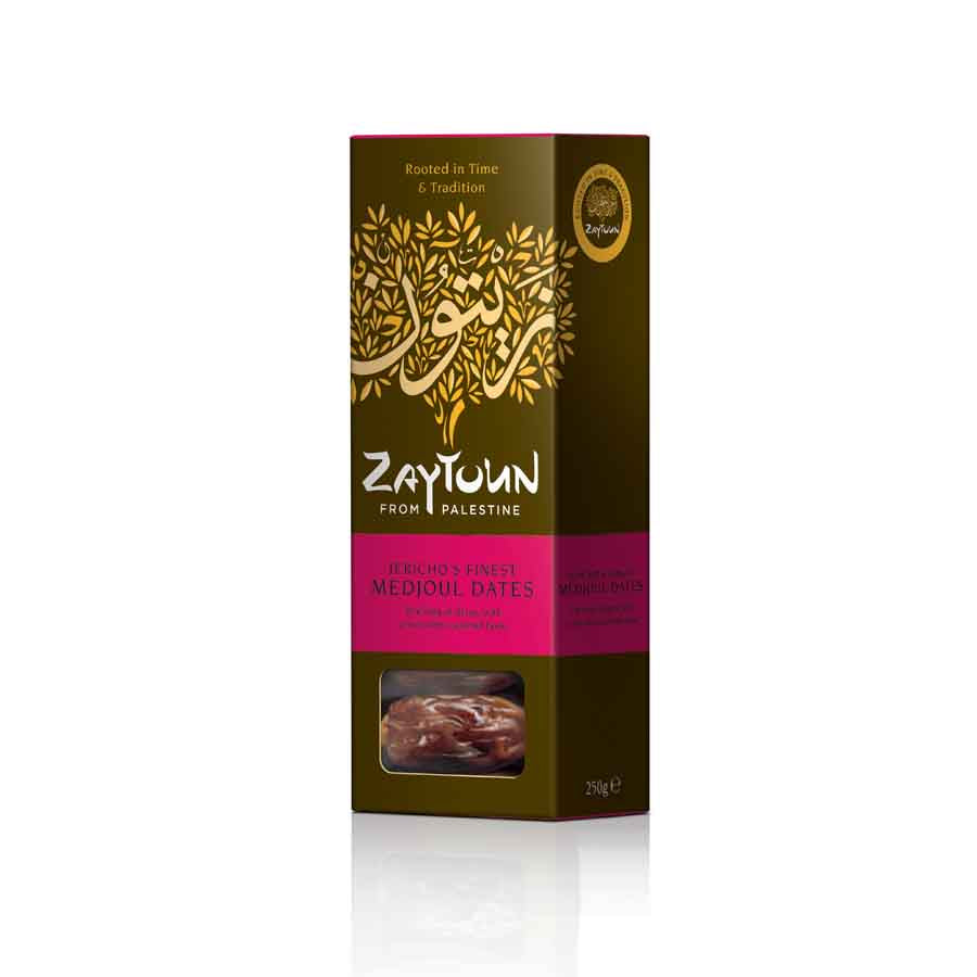 Zaytoun Palestinian Medjoul Dates 250g Ingredients Chocolate Bars & Confectionery Middle Eastern Food