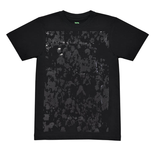 .crowd. T-shirt black on black
