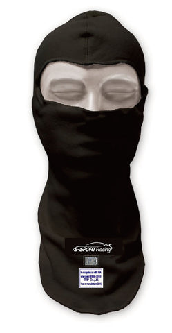 Racing Balaclava FIA Approved Single eye port Black