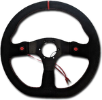 Suede Racecar 350mm Sports Steering Wheel