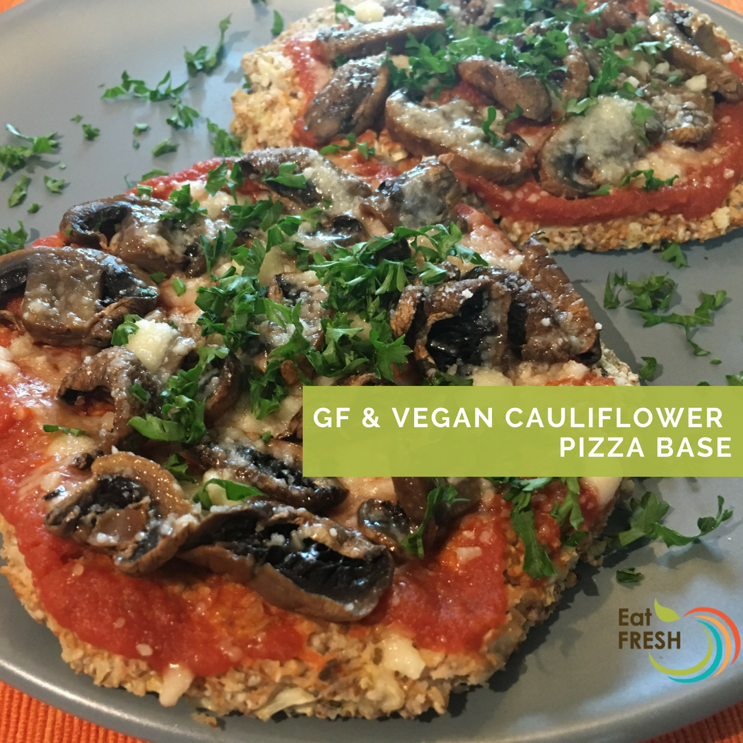 GF, Vegan Cauliflower Pizza Base/Crust