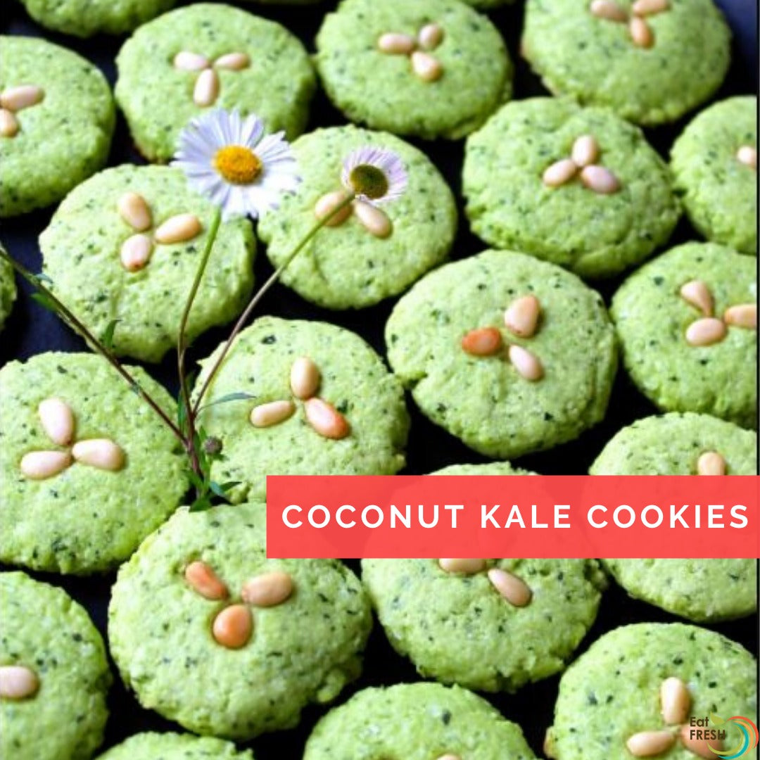 Coconut Kale Cookies
