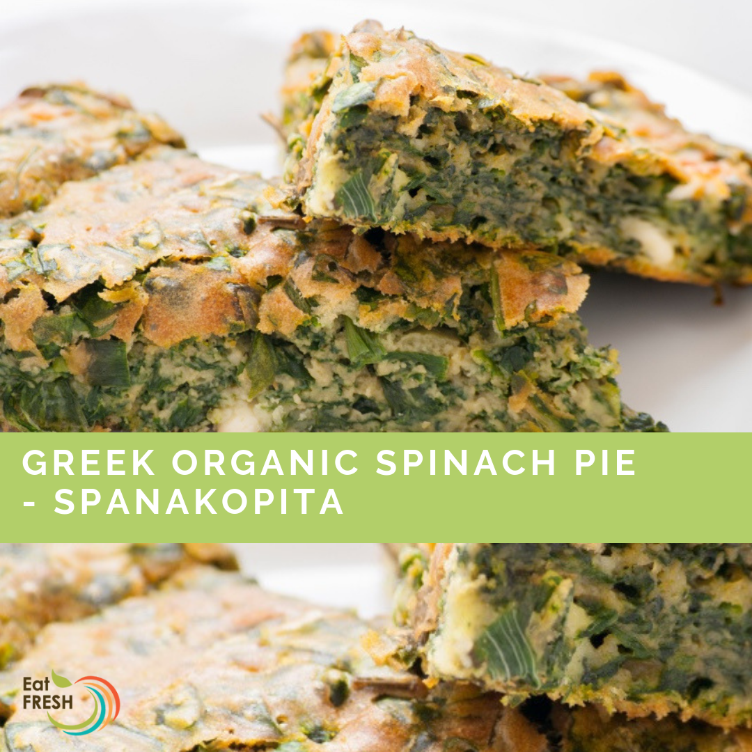 Greek Organic Spinach Pie - Spanakopita