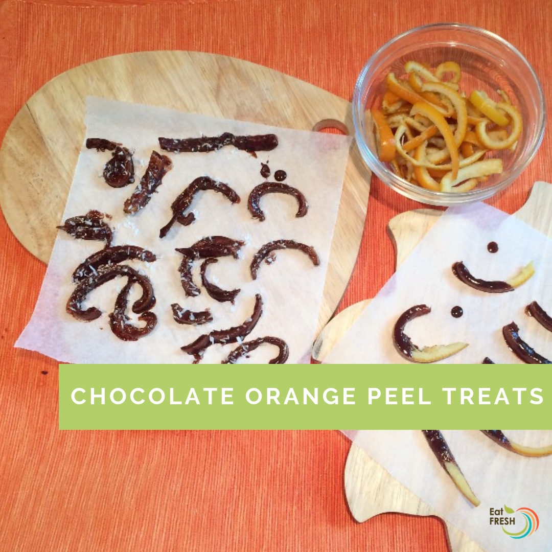 Chocolate orange peel treats
