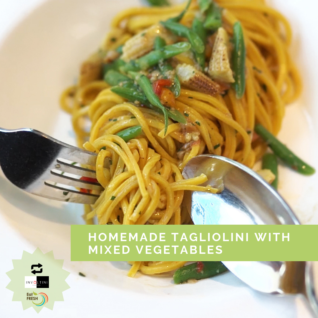 Homemade Tagliolini with Mixed Vegetables