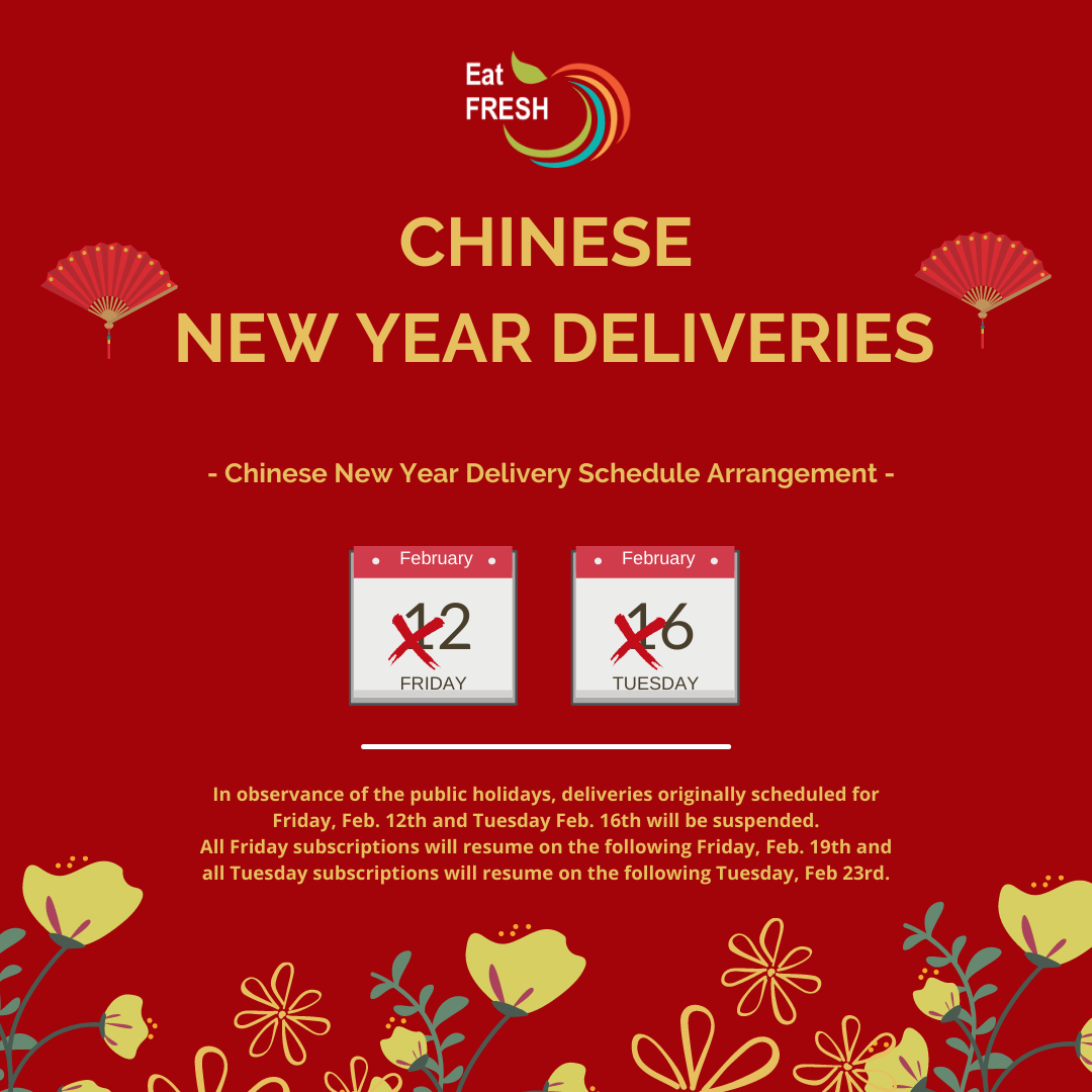 Special Delivery Arrangement - Chinese New Year