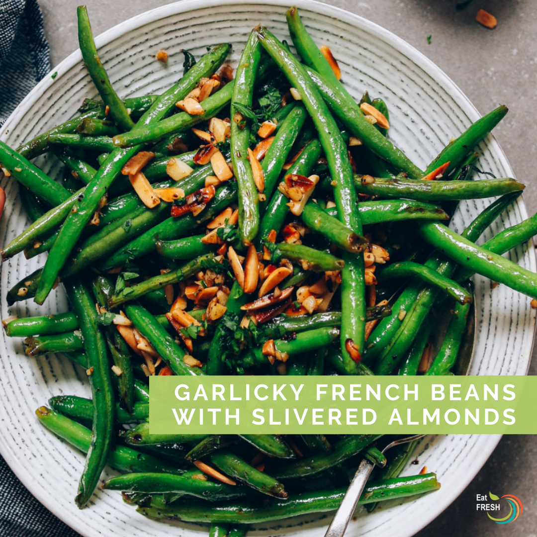 Garlicky French Beans with Slivered Almonds