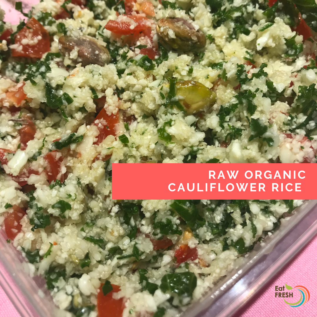 Raw Organic Cauliflower Rice