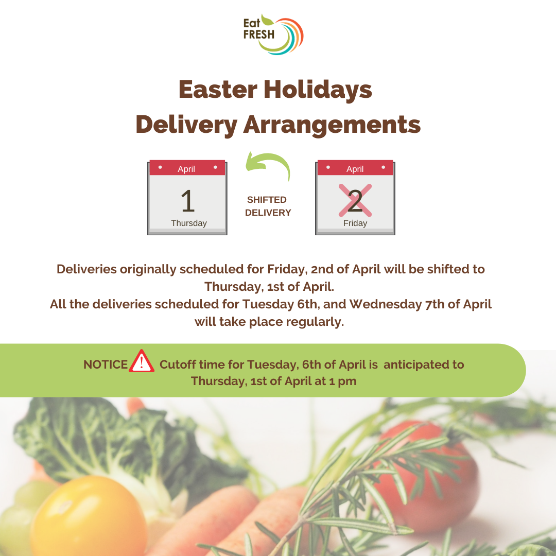 Easter Holidays Delivery Arrangements