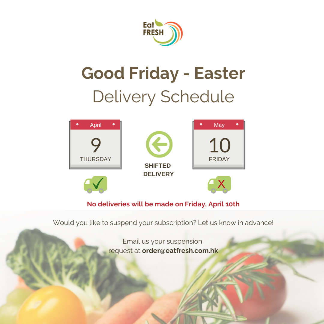 No Delivery on April 10th - Easter Holiday
