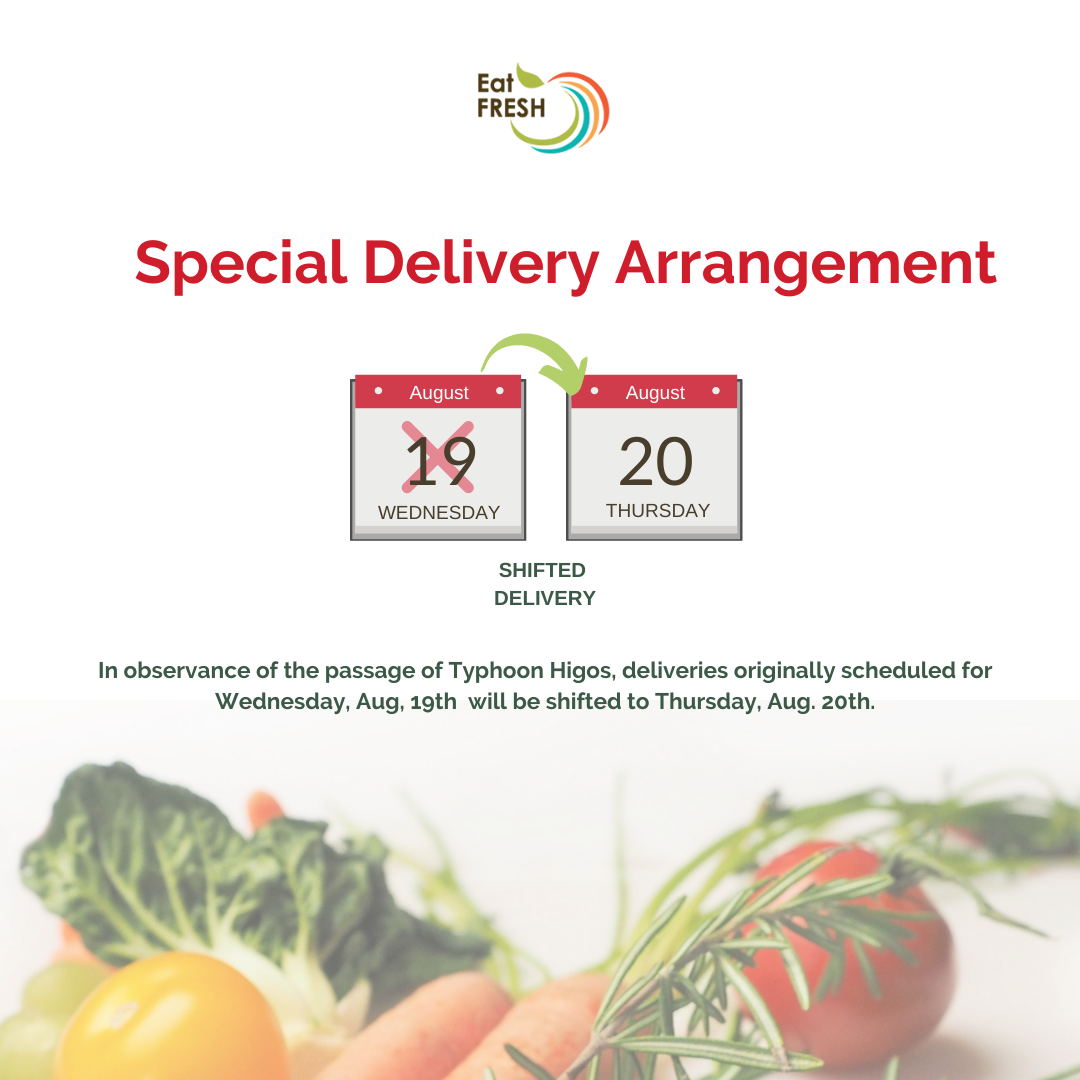 After Higos - Special Delivery Arrangement - POSTPONED