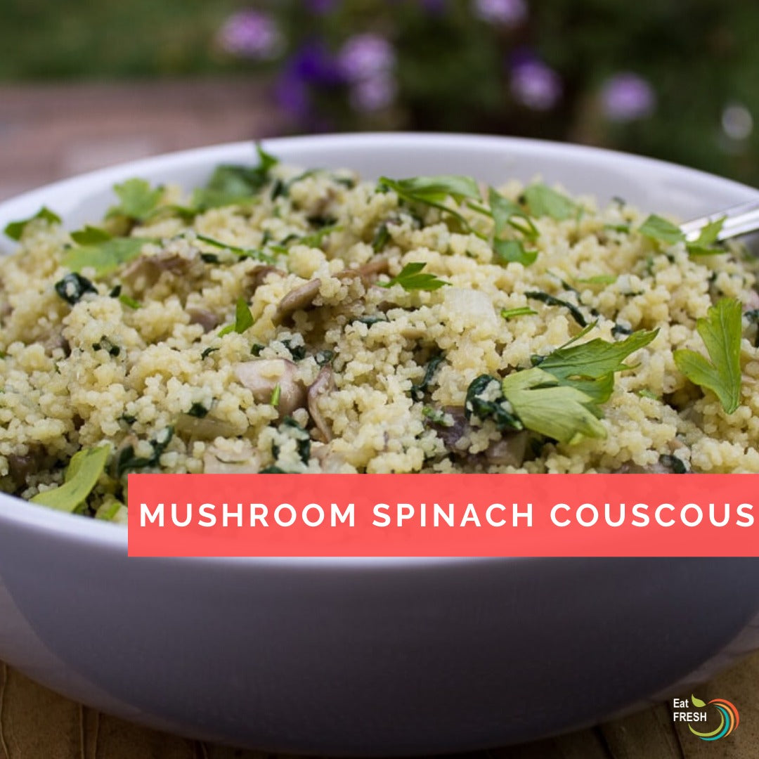 Mushroom Spinach Couscous