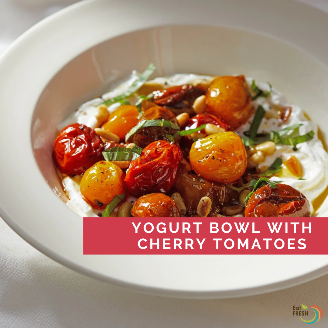 Yogurt Bowl with Cherry Tomatoes