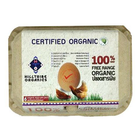 Organic Free-Range Eggs (6 Eggs Box) Hilltribe Social Enterprise