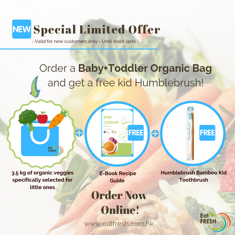 Baby & Toddler Seasonal Organic Bag + FREE e-book recipe guide