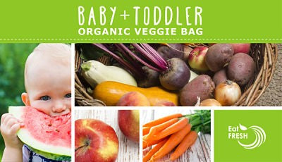 New Baby & Toddler Seasonal Organic Bag Subscription With Free E-Book Recipe Guide